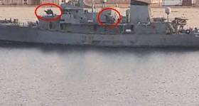 Al Karama is now refitted with weapons, the vessel was formerly the Irish Naval Service patrol ship LÉ Aisling, having been originally sold to a Dutch firm.