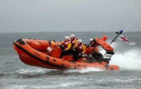 Union Hall Lifeboat Launches To Yacht Off Glandore Harbour
