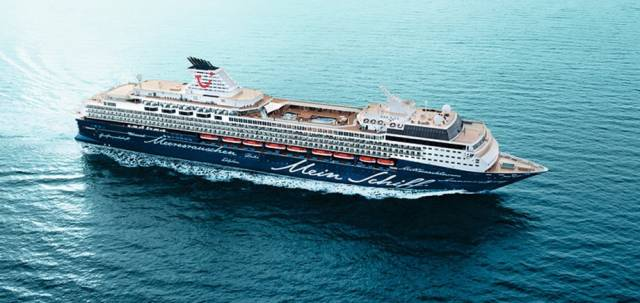 Mein Schiff 1 is the first of 8 cruise calls to Dun Laoghaire this summer