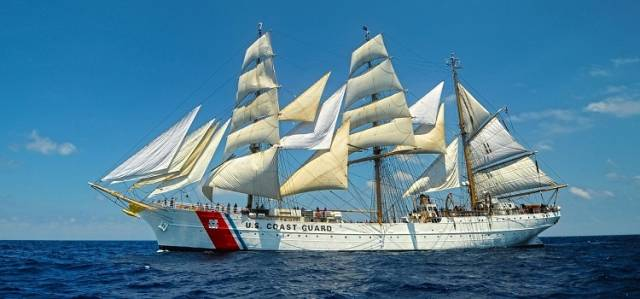 United States Coast Guard Cutter barque, USCGC Eagle is a trainee vessel that is to be open for free public tours during a visit to Dublin Port