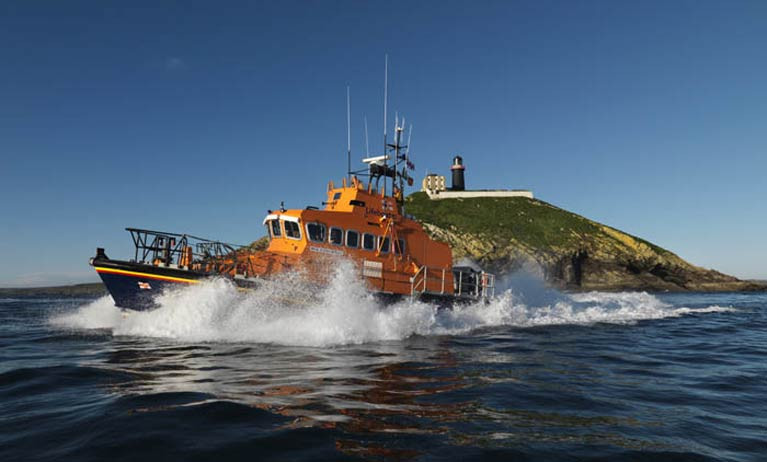 Ballycotton RNLI all-weather Trent class lifeboat Austin Lidbury