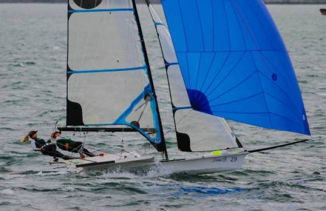Andrea Brewster and Saskia Tidey are Rio bound in the 49erFX Skiff