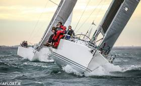 Liam Shanahan's Ruth at the start of the 2017 D2D on Dublin Bay