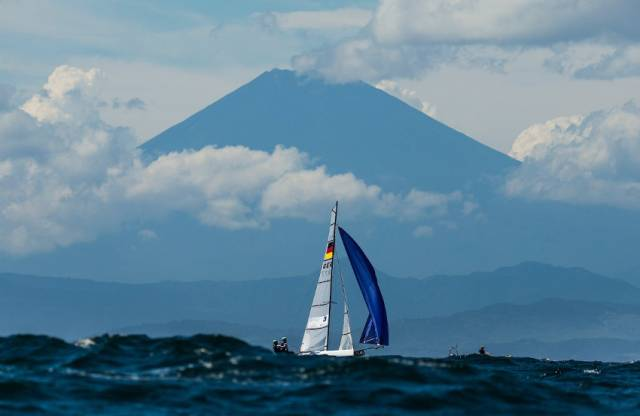 Sailing in the shadow of Mount Fuji