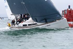Denis and Ann Marie Murphy's Nieulargo racing in the Naval Race. See Photo Gallery Below