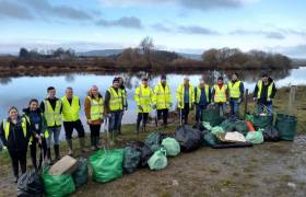 Volunteers from Seagate in Derry took part in a bank clean-up downstream of the Strabane Canal, removing close to 30 bags worth of rubbish