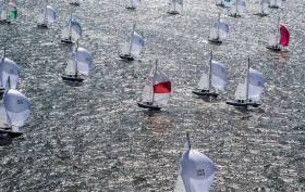 Sparkling conditions for the Etchells Worlds on the Solent