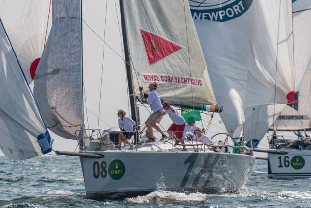 Anthony O'Leary's RCYC team in action on the first day of the New York Invitational Cup