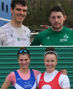 (Top) Philip Doyle and Ronan Byrne and (above) Monika Dukarska and Aifric Keogh