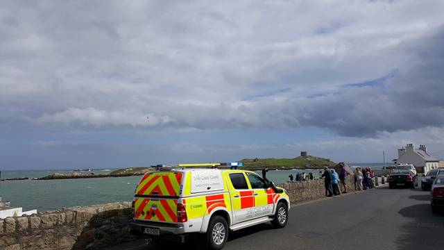 Dun Laoghaire Coastguard on scene at Dalkey Island in the search for people stranded at the Muglins Rocks