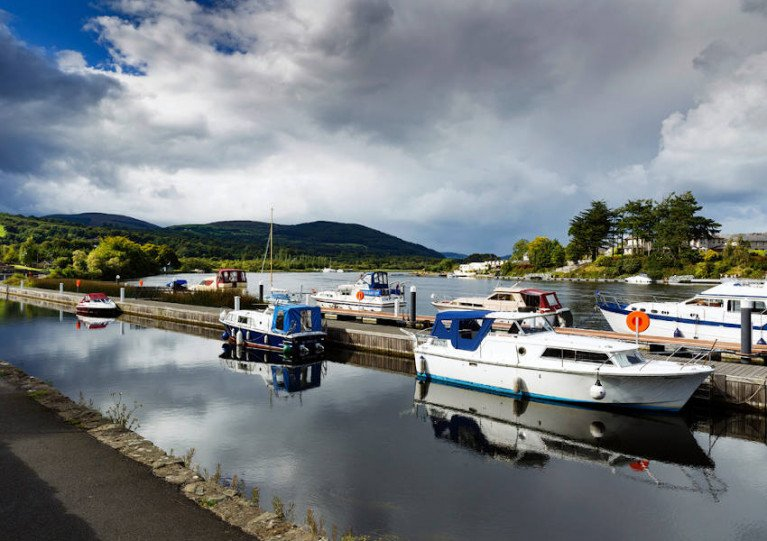 Cruisers on the Shannon at Killaloe in Co Clare