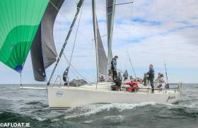 Jalapeno (Barrington, Despard & O'Sullivan) from the National Yacht Club was the winner of DBSC's Bloomsday 2019 race for Cruiser 1 (IRC) and J109 divisions