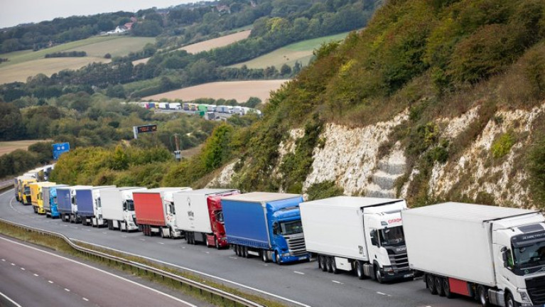 The President of the Irish Road Haulage Association said there could be a delay in delivering some goods and scarcity of products with Brexit. Above Afloat adds trucks congestion in Kent, the south-east of England