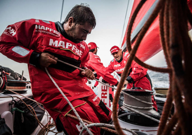 Helly Hansen outfitted Team MAPFRE in the 2017-18 edition of the race