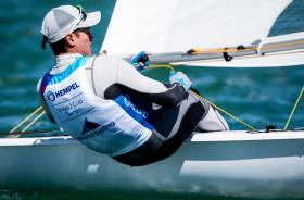 Finn Lynch became the first Irishman to make a World Cup Laser Medal Race in Miami this month