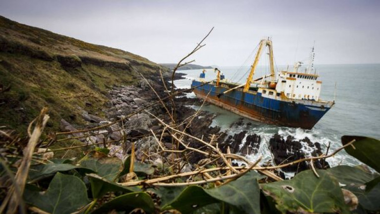 Shipwreck One Year On: MV Alta, the cargo ship (which was abandoned) grounded in Ballyandreane, Ballycotton. In March and October last year, structural assessments were carried and another assessment is being carried out this month for potential enivomental impacts posed by the shipwreck.