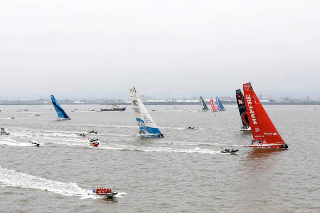 Action from yesterday's Sky Ocean Rescue In-Port Race Cardiff