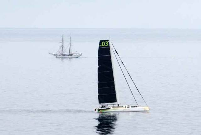 It was a slow start for Justin Slattery's Transpacific Record on Phaedo 3
