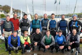 Participants in the MBSC Laser league. The fleet has been joined by some of Cork's leading dinghy sailors. They include John Durcan, 49er sailor Cian Byrne and Nick Walsh, 2017 National 18ft British and Irish Championships winner.