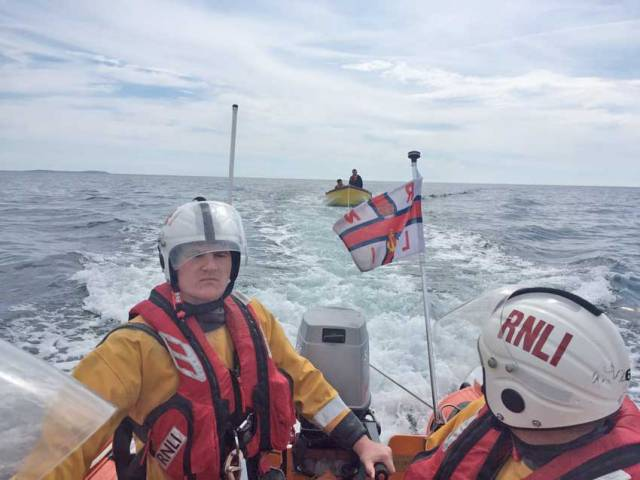 Fethard's all-weather lifeboat tows in a boat with two on board after their vessel suffered engine failure