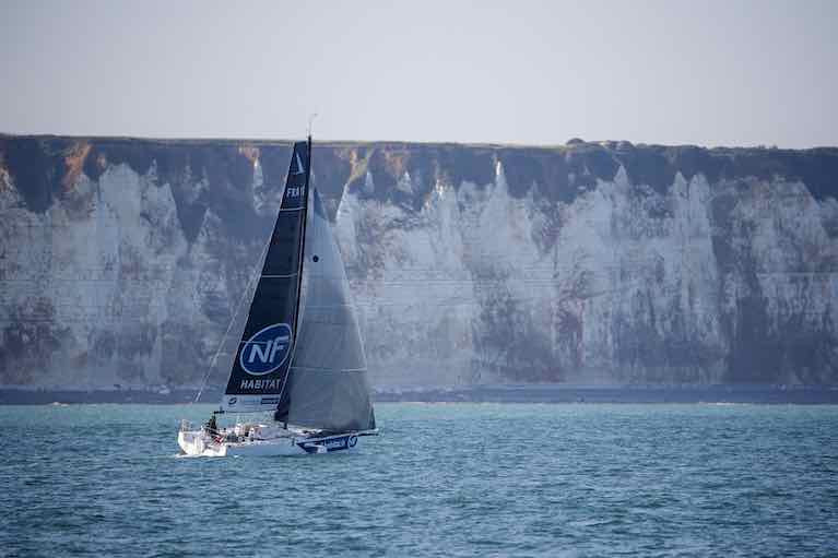 It's been a slow start to leg three of the Figaro Race from Dunkirk today