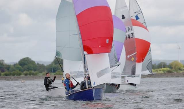 GP14s competing at Swords Sailing Club