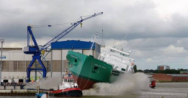 Arklow Wave launched as the first of an enlarged quartet of newbuilds at the Ferus-Smit shipyard in Leer, Germany