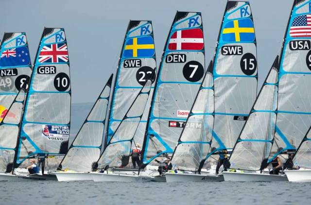 Light winds for the last rounds of the 49erFX Europeans in Weymouth