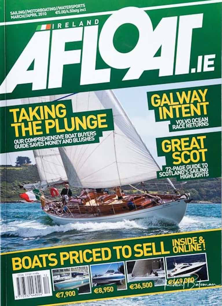 Blast from the past…..Northele starring in the Crosshaven Classics Regatta 2009 on the cover of Afloat Magazine March/April 2010. At the time, Anthony and Sally O'Leary had already quietly decided that they hoped to own her one day, but the family had another decade of successful competitive sailing at home and abroad before they made the move