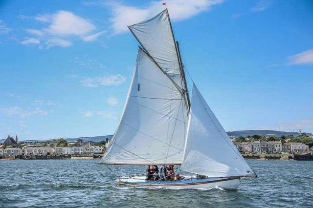 Howth 17s are one of several fleets travelling to compete in Saturday's National Yacht Club Regatta sponsored by Davy Group