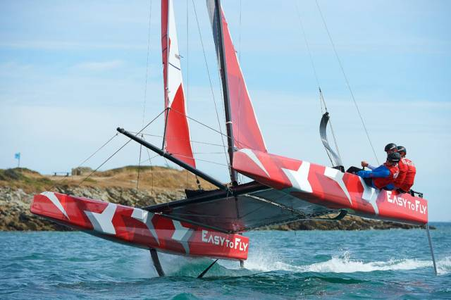Easy To Fly is a new foiling multihull from Jean-Pierre Dick and Guillaume Verdier