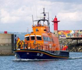 Larne RNLI's all-weather lifeboat at Bangor