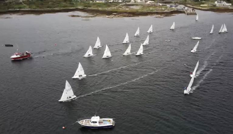 Good upwind sailing on Casla Bay for the Connemara Flying Fifteens