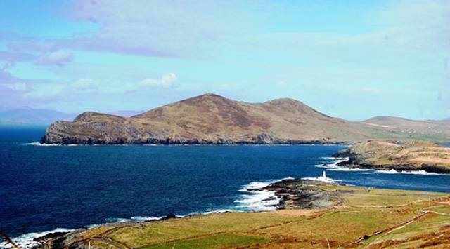 Valentia Island is one of Ireland's most westerly points lying off the Iveragh Peninsula in the south-west of County Kerry