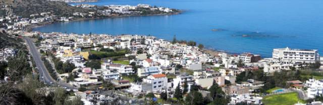 The incident occurred at a hotel in the village of Stalida on Crete