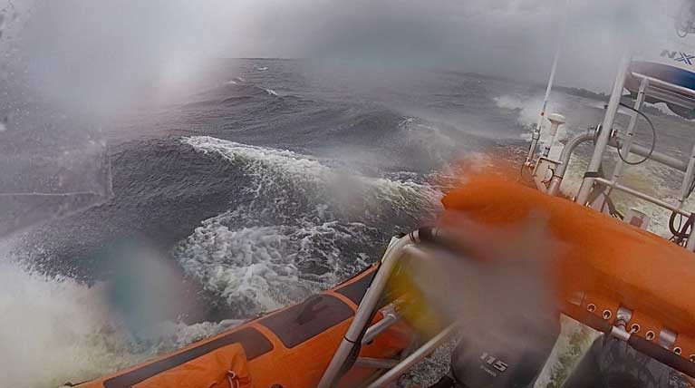 Lough Derg RNLI Lifeboat Launches In Severe Conditions for Motorboat with Engine Failure