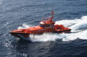 Galician SAR vessel Salvamar Alioth, which picked up the three crew from the stricken Sujo in the early hours of Friday morning