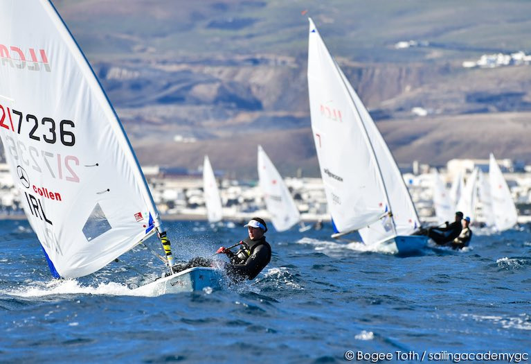 Annalise Murphy conpeting in the first day of competition at the Lanzarote Winter Series