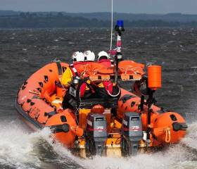 The Lough Derg lifeboat, with helm Ger Egan, Owen Cavanagh and Delia Ho on board located the vessel