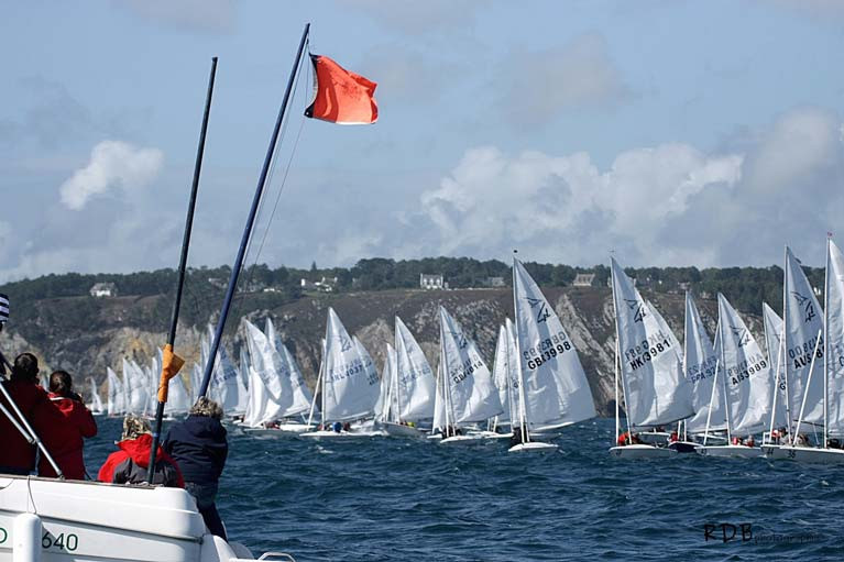 A Flying Fifteen race at Morgat, France