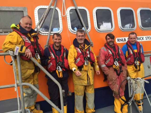 The Courtmacsherry All Weather RNLI Lifeboat crew