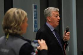 Mike Heskin, recently appointed Director of Sport and Physical Activity at NUI Galway, speaking at the recent Connacht #Blitzit2016 Challenge.