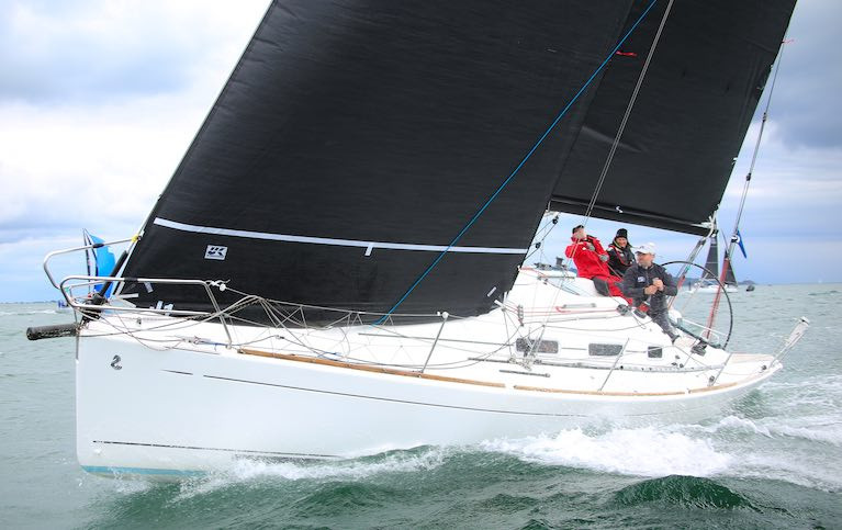ICRA cruiser racing on Dublin Bay in Leslie Parnell's First 34.7 Black Velvet from the Royal Irish Yacht Club