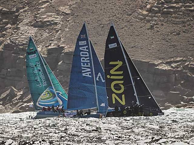 Team Averda (GBR/Andrew Baker) are on 10.5 points after the third round of the Sailing Tour of Arabia