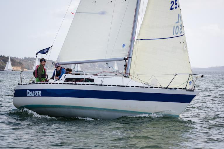 Cracker looking sharp with her 3Di sails