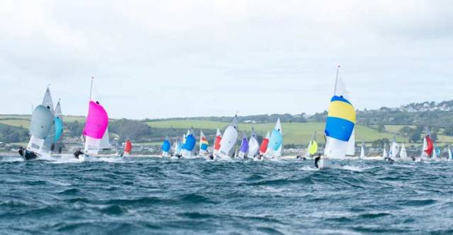 GP14s racing at Abersoch