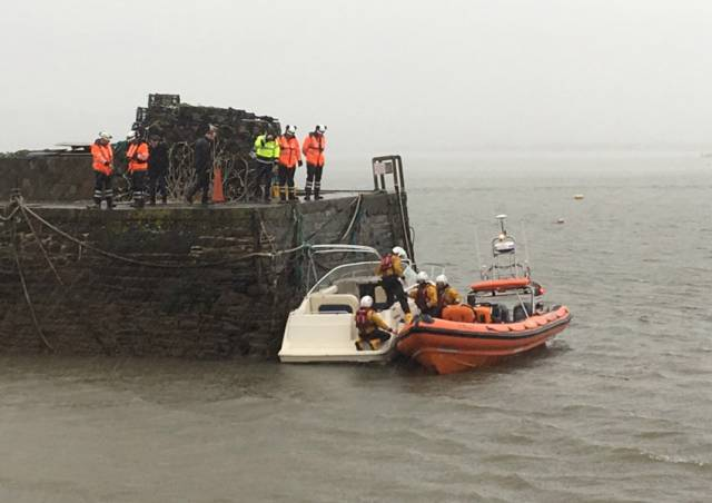 Youghal Lifeboat Crew Help Vessel Taking On Water In First Callout Of 2019