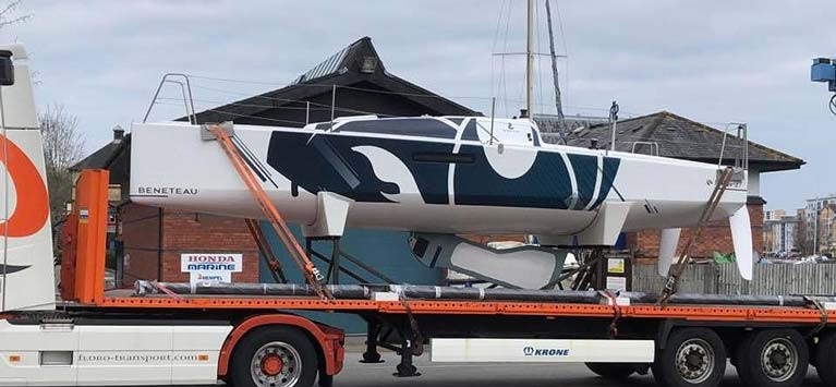 The new Beneteau 27 arrives in Cardiff