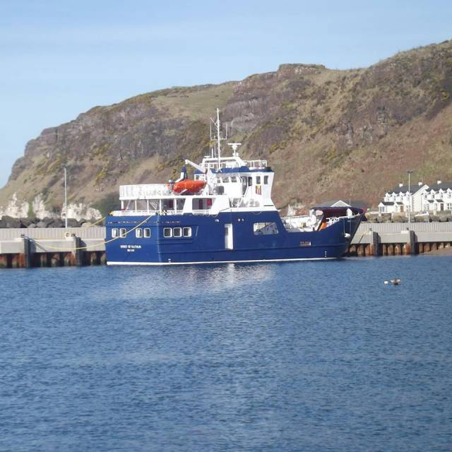 The custom-built Spirit of Rathlin has finally entered service on the route linking Church Bay,Rathlin Island to Ballycastle, Co. Antrim,