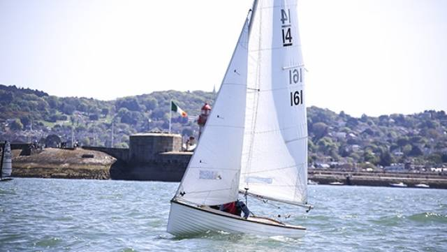 IDRA 14 Number 161 Dart 161 (Pierre Long) from the DMYC competing in Sunday's DBSC dinghy race